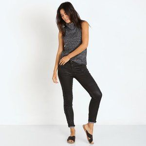 Free People Jillian Coated Moto Skinny Jeans